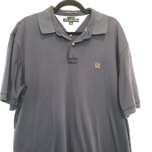 Tommy Hilfiger blue polo mercerized lux cotton